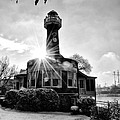 Black And White Philadelphia - Turtle Rock Lighthouse by Bill Cannon