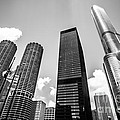 Black And White Photo Of Chicago Skyscrapers by Paul Velgos