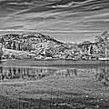 Black And White Photo Of Long Pond Acadia National Park Maine by Keith Webber Jr