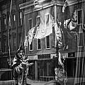 Black And White Photograph Of A Mannequin In Lingerie In Storefront Window Display  by Randall Nyhof