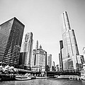 Black And White Picture Of Downtown Chicago by Paul Velgos
