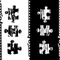 Black And White Puzzles Digital Painting by Georgeta Blanaru