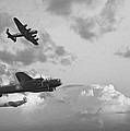 Black And White Retro Image Of Batttle Of Britain Ww2 Airplanes by Matthew Gibson