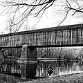 Black And White Schofield Ford Covered Bridge by Bill Cannon