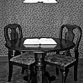 Black And White Sitting Table by Frozen in Time Fine Art Photography