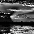 Black And White Sunset Over The Mead Wildlife Area by Dale Kauzlaric