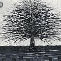 Black And White Snow Cold Winter Tree by Susanna Shaposhnikova