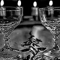 Black And White Two #glasses And Four #lights by Leif Sohlman