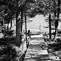 Black And White Walkway by Thomas Phillips