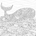 Black And White Whale by MGL Meiklejohn Graphics Licensing
