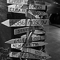 Black And White World Directions by Dan Sproul