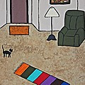 Essence Of Home - Black Cat In Living Room by Sheryl Young