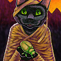 Black Cat Mummy Monster by Rachel Armington