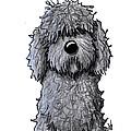 Black Doodle Dog by Kim Niles