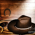 Black Felt Cowboy Hat by Olivier Le Queinec
