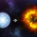Black Hole Formation, Artwork by Science Photo Library
