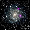 Black Holes In Spiral Galaxy Nasa by Rose Santuci-Sofranko