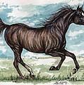 Black Horse Running by Angel Ciesniarska