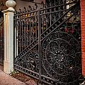 Black Iron And Red Brick by Melinda Ledsome