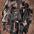 Black Labrador Typography Artwork by Georgeta Blanaru
