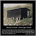 Black Pitch Storage Shed by Barbara Griffin