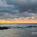 Black Sea Sunrise Before Storm by Jivko Nakev