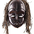 Black Tribal Face Mask On Isolated On White by Simon Bratt Photography LRPS