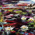 Black Water Lily Pond by Ginette Callaway