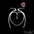 Black White Red Minimalist Abstract Art No.217. by Drinka Mercep