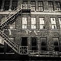 Blackened Fire Escape by Melinda Ledsome