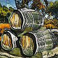 Blackjack Winery Wine Barrels by Barbara Snyder
