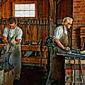 Blacksmith And Apprentice Impasto by Steve Harrington