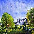 Blair Castle Bridge Scotland by John D Benson