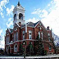 Blairsville Courthouse At Christmas by Joe Duket