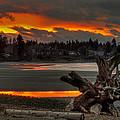 Blazing Sunset II by Randy Hall