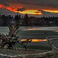 Blazing Sunset by Randy Hall