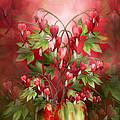 Bleeding Hearts Bouquet by Carol Cavalaris