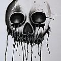 Bleeding Skull by Michael Ver Sprill