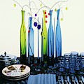 Blenko Glass Bottles by Rudy Muller