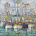 Blessing Of The Tuna Fleet At Groix by Paul Signac