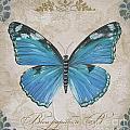 Bleu Papillon-b by Jean Plout