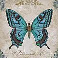 Bleu Papillon-c by Jean Plout