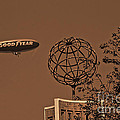Blimp Over Usc by Tommy Anderson