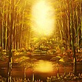 Blinding Light-original Sold-buy Giclee Print Nr 36 Of Limited Edition Of 40 Prints   by Eddie Michael Beck