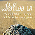 Bliss Is Sand Between My Toes And The Sunburn On My Nose by Edward Fielding