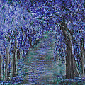 Blissful Walk Through Purple by Suzanne Surber