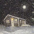 Blizzard At The Cabin by Barbara Griffin