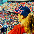 Blonde At The Ballgame by Alice Gipson