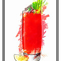 Bloody Mary Cocktail Marker Sketch by Elaine Plesser