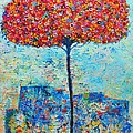Blooming Beyond Known Skies - The Tree Of Life - Abstract Contemporary Original Oil Painting by Ana Maria Edulescu